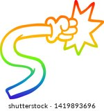 rainbow gradient line drawing... | Shutterstock .eps vector #1419893696