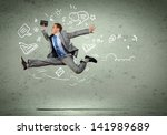 image of jumping young... | Shutterstock . vector #141989689