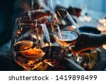 Glasses Of Wine Seen During A...