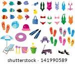 summer elements | Shutterstock .eps vector #141990589