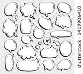 different cartoon speech... | Shutterstock .eps vector #1419906410