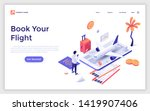 landing page template with man... | Shutterstock .eps vector #1419907406