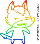 rainbow gradient line drawing... | Shutterstock .eps vector #1419920330