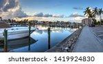 Boats Docked At A Marina Near...