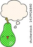 cartoon pear with thought... | Shutterstock .eps vector #1419926840