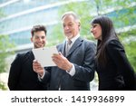 group of business people using... | Shutterstock . vector #1419936899