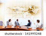 image of businesspeople at... | Shutterstock . vector #141995248