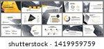 presentation template. yellow... | Shutterstock .eps vector #1419959759