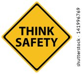 think safety road sign   Shutterstock .eps vector #141996769