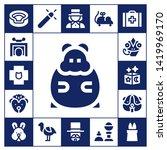 rabbit icon set. 17 filled... | Shutterstock .eps vector #1419969170