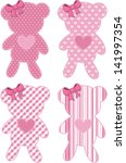 set of four cute teddy bear... | Shutterstock .eps vector #141997354