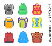 set school backpack  sport and... | Shutterstock .eps vector #1419976049