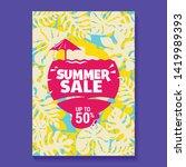 summer sale illustration with... | Shutterstock .eps vector #1419989393
