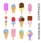 set of delicious ice cream... | Shutterstock .eps vector #1419991013