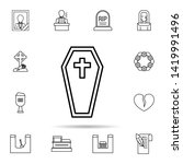 funeral  coffin icon. universal ...   Shutterstock .eps vector #1419991496
