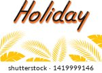 holiday typography comics style ... | Shutterstock .eps vector #1419999146
