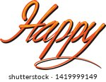 happy typography comics style ... | Shutterstock .eps vector #1419999149