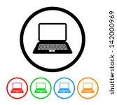 laptop computer icon in vector... | Shutterstock .eps vector #142000969
