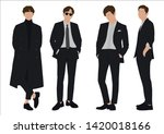 vector of young businessman and ... | Shutterstock .eps vector #1420018166