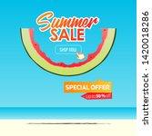 summer sale banner template... | Shutterstock .eps vector #1420018286