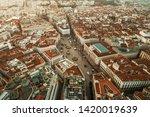 madrid puerta del sol aerial... | Shutterstock . vector #1420019639