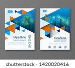 modern design poster flyer... | Shutterstock .eps vector #1420020416