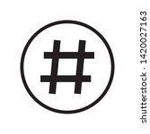 hashtag icon in trendy outline...