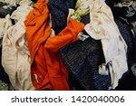 pile of clothes. closedup of...   Shutterstock . vector #1420040006