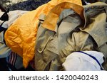 pile of clothes. closedup of...   Shutterstock . vector #1420040243