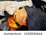pile of clothes. closedup of...   Shutterstock . vector #1420040666