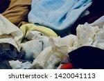 pile of clothes. closedup of...   Shutterstock . vector #1420041113