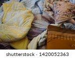 pile of clothes. closedup of...   Shutterstock . vector #1420052363