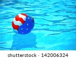 Patriotic Beach Ball In A...