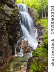 Small photo of Avalanche Falls, Flume Gorge, Franconia Notch State Park, New Hampshire, United States