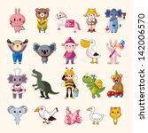 set of animal icons | Shutterstock .eps vector #142006570