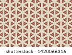 triangle orange ivory abstract... | Shutterstock . vector #1420066316