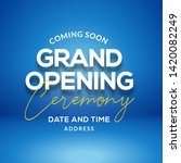grand opening ceremony poster... | Shutterstock .eps vector #1420082249