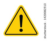 hazard warning symbol vector... | Shutterstock .eps vector #1420082513