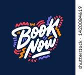 book now. typographic design...   Shutterstock .eps vector #1420084619