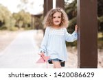 stylish baby girl 4 5 year old... | Shutterstock . vector #1420086629