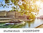 Views of seine river in paris ...
