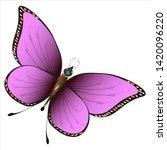 beautiful red butterflies ... | Shutterstock .eps vector #1420096220