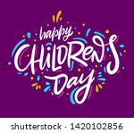 happy children's day. holiday... | Shutterstock .eps vector #1420102856