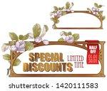 vector plant vignette for... | Shutterstock .eps vector #1420111583