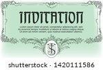 vector template flyer ... | Shutterstock .eps vector #1420111586