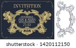 vector template flyer ... | Shutterstock .eps vector #1420112150