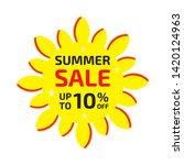 summer sale banner up to 10  ... | Shutterstock .eps vector #1420124963