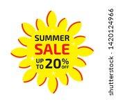 summer sale banner up to 20  ... | Shutterstock .eps vector #1420124966