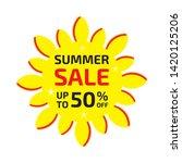 summer sale banner up to 50  ... | Shutterstock .eps vector #1420125206