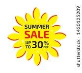 summer sale banner up to 30  ... | Shutterstock .eps vector #1420125209